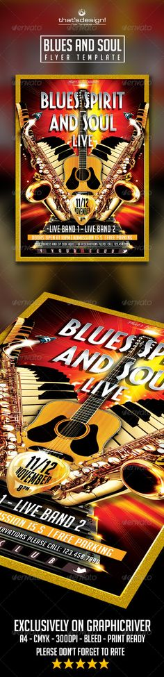 Blues and Soul Live Flyer Template Official website : http://thats-design.com/