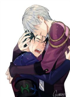 Read Victor X Yuri - Him and Her. from the story Victor X Yuri {ONESHOTS} -Complete - by I_drugged_yo_cereal (٩꒰ ˘ ³˘꒱۶~♡) with reads. yurionice, one. Manga Anime, Me Anime, Fanarts Anime, Anime Guys, Anime Art, Viktor X Yuri, Yuri X Victor, Katsuki Yuri, Yuuri Katsuki