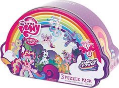 Purchase My Little Pony Girls Shaped Puzzle Tin from Partytoyz Inc. Share and compare all Toys. My Little Pony Puzzle, My Little Pony Collection, Nail Art For Kids, Shape Puzzles, All Toys, My Little Pony Friendship, Led Night Light, Jigsaw Puzzles, Tin