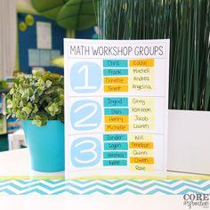 Math Workshop Small Group Organization
