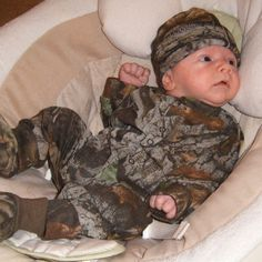 I hope my baby boy looks this cute in camo!