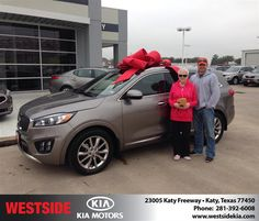 https://flic.kr/p/D4ryHJ | Happy Anniversary to Karen on your #Kia #Sorento from Rick Hall at Westside Kia! | deliverymaxx.com/DealerReviews.aspx?DealerCode=WSJL