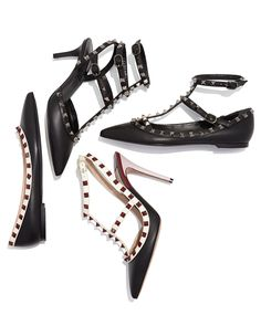 Classics—Valentino Lacquered Rockstud Leather Pumps, in any height you want them.