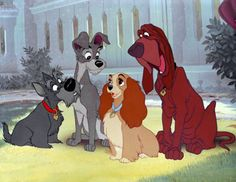 """""""Lady and the Tramp""""  movie that made me cry"""