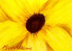 Yellow Petals  ACEO Note Card  Original Pastel by marglezart, $16.00