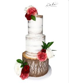 Rustic textured naked wedding cake with fresh flowers. Click the link below for more information on order your celebration cake. Fresh Flower Cake, Fresh Flowers, Cake Wedding, Celebration Cakes, Special Day, Weddingideas, Rustic Wedding, Cake Decorating, How To Memorize Things