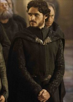 This costume seems to have been used twice in Game of Thrones, first on Richard Madden as Robb Stark in the 2013 episode The Rains of Castamere