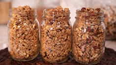 Homemade Granola from the Domestic Geek. Try the Chocolate Hazelnut