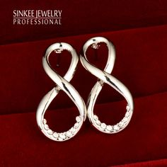 Find More Stud Earrings Information about Hot Sale Rhinestone Infinity Earrings Stud For Women Fashion 2016 New Sinkee Es367 Free Shipping Silver Plated,High Quality earings red,China earring crystal Suppliers, Cheap earings silver from SINKEE JEWELRY Store on Aliexpress.com
