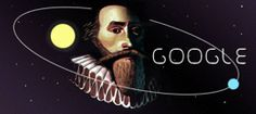 Johanes Kepler, who was born on 27 December was born near Stuttgart and made his foray into astronomy after he worked as a maths teacher in Graz, Austria - where he became an associate of Prince Hans Ulrich von Eggenberg. Google Doodles, Isaac Newton, Proclamation Day, Oman National Day, Google Banner, Scientific Revolution, Johannes, Doodle Designs, Places