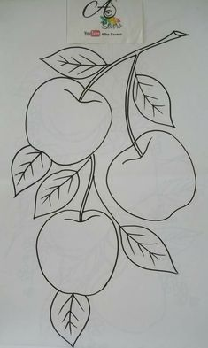 25 Beautiful Flower Drawing Information & Ideas Art Drawings For Kids, Pencil Art Drawings, Easy Drawings, Flower Drawing For Kids, Embroidery Stitches, Hand Embroidery, Embroidery Designs, Fruit Coloring Pages, Coloring Books