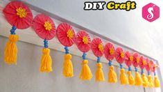 Easy DOOR HANGING TORAN from Old Bangles | Easy Craft | Door Decor Idea