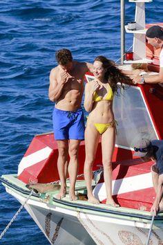Dakota Johnson in Yellow Bikini Fifty Shades Freed Set in France