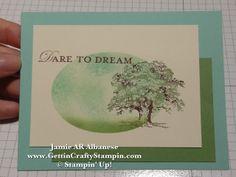 Gettin' Crafty Stampin' with Jamie: Spring Dream hand-stamped masked card #GettinCraftyStampin #cardmaking
