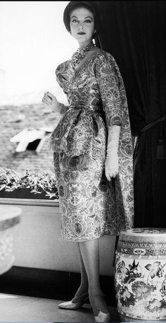 "House of Dior ""Florentine"" Dress, designed by Yves Saint Laurent, 1958"