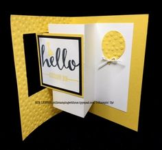 Pop-Out Swing Birthday Card using the Hello Sale-a-Bration Stamp Set from Stampin' Up!