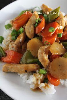 Chicken Chop Suey {Low-FODMAP, Gluten-Free, Dairy-Free, Egg-Free}  /  Delicious as it Looks