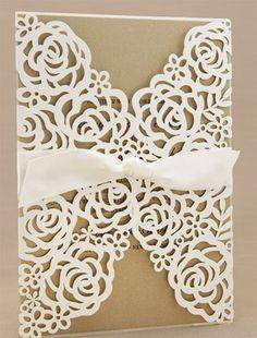 Loving laser-cut wedding invitations
