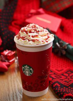 Starbucks, christmas time, red, creamy, holidays, winter, harmony - Weihnachtszeit, rot, creme, Feiertage, Winter, Harmonie