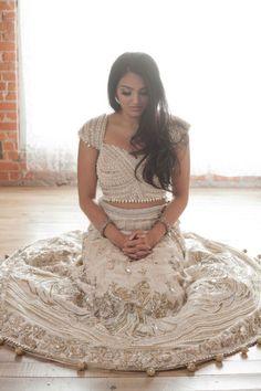 Gorgeous ethnic bridal gown.