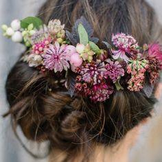 Beautiful floral hair inspiration featuring tiny Astrantia flowers. We named our low heel sandal in opal leather after this flower as it is so pretty. . .  #merleandmorris #bridalshoes #alternativebride #bridalstyle #bridetobe #bohobride #weddinggoals #shoegoals #iftheshoefits #luxurybride #alternativestyle #shoesday #bridalmusings #londonbride#shoesofinstagram #valentines #brideinspiration #londonwedding #loveauthentic #shoeaddict #rocknroll #rocknrollbride #vintageweddingdress