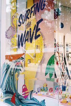 Swatch Oxford Street - Summer window display
