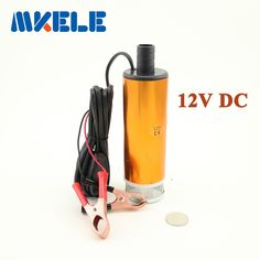 Aluminium Alloy DC 12V Submersible Transfer Diesel Fue l Water Pump On/Off Switch Car Camping Portable 30L Per Minute
