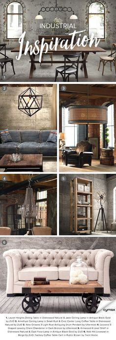 Exposed brick. Gritty textures. Distressed design. If you're a fan of the industrial look, you'll love rummaging through our collection of chic industrial treasures. Click on the image to shop our industrial collection today!