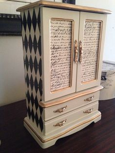 Vintage Jewelry Box Hand Painted and by ColorfulHomeDesigns, $105.00