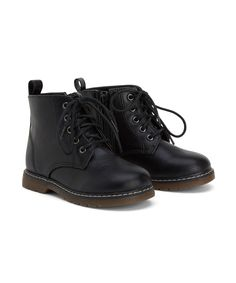 Black Lace Boots- Mothercare