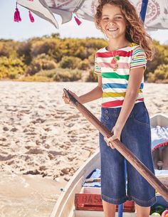 If you win hide and seek wearing this bold T-shirt, you must be a world champion. The big, colourful prints and stripy sleeves stand out even in the best hiding places. You might lose the element of surprise, but your friends will always be able to find you in the playground.