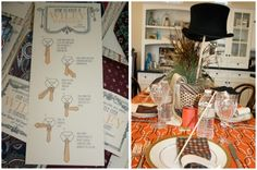 Little Man Party Decor- I like the Windsor instructions and top hat centerpiece idea