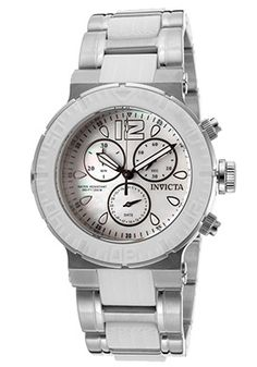 Women's Ocean Reef Chronograph White Mother of Pearl Dial Stainless Steel & White Polyurethane