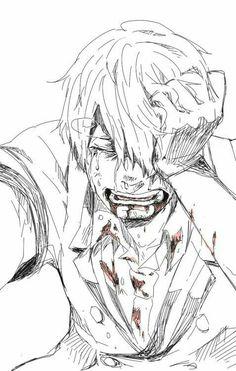Vinsmoke Sanji, sad, crying, blood; One Piece
