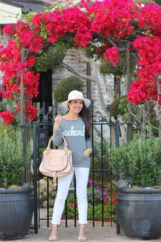 Ily Couture weekend sweatshirt and Chloe Marcie small purse