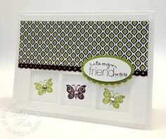 Card-  green/brown butterfly