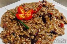 Receita de Risoto de filé mignon com vinho tinto em receitas de arroz, veja essa e outras receitas aqui!