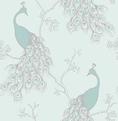 World Menagerie Faraz Peacock x Wallpaper Roll, elegant and modern in and off-white. Metallic stripes accent the main plaid pattern in this wallpaper. This wallpaper roll is a non-paste, paper wallpaper.