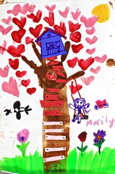 smART Class: Valentine's Day Trees