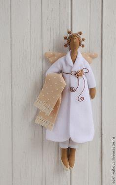 Куклы Тильды ручной работы. Ярмарка Мастеров - ручная работа Банный ангел в стиле Тильда.. Handmade.