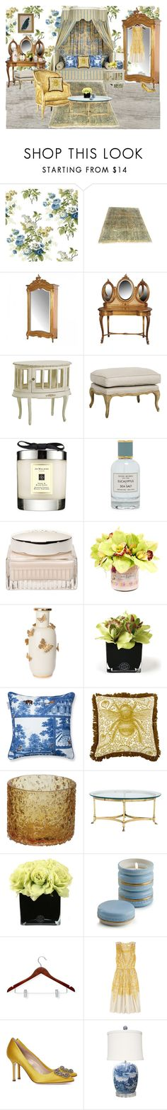 """Aster"" by sailorgirl ❤ liked on Polyvore featuring interior, interiors, interior design, home, home decor, interior decorating, York Wallcoverings, Jo Malone, Henri Bendel and Chloé"