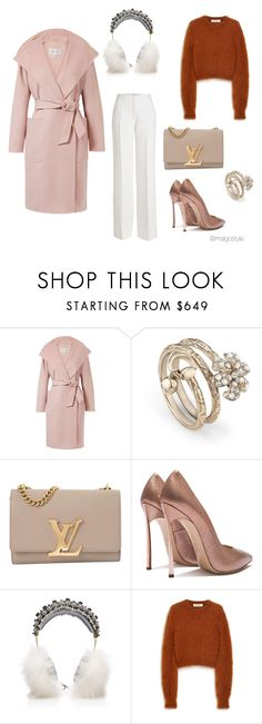 """""""Untitled #64"""" by nerdygets on Polyvore featuring MaxMara, Gucci, Louis Vuitton, Dolce&Gabbana, Mulberry and Agnona"""