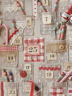 Get in the spirit of the holidays with these awesome DIY advent calendar ideas and pick your favorite one to bring some magic in your home. Christmas Sewing, Christmas Fabric, Handmade Christmas, Christmas Diy, Fabric Advent Calendar, Diy Calendar, Calendar Printable, Christmas Projects, Christmas Crafts