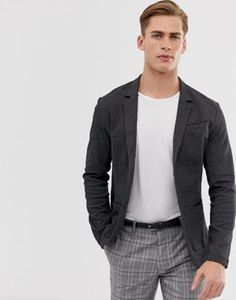 Shop Jack & Jones Premium super slim jersey blazer in charcoal at ASOS. Order now with multiple payment and delivery options, including free and unlimited next day delivery (Ts&Cs apply). Work Casual, Men Casual, Jack Jones, Latest Trends, Charcoal, Asos, Lisa, Suit Jacket, Blazer