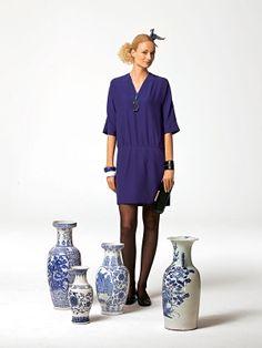 Sommerkleid 108-052010-DL Kleid Kreppsatin - Flapper-Dress