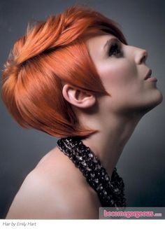 Medium Pixie Red Hair Style...really almost want to go for it..I have always wanted to do it
