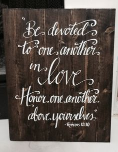 """This rustic wall art would make a great wedding or anniversary gift! It can also be used as a beautiful, elegant addition to any rustic/country chic wedding decor, then proudly displayed in your home!  Dimensions: 14""""W x 18"""" T  These boards are stained with a stunningly rich, dark brown hue. High quality vinyl is used for the lettering, and a clear, satin top coat is applied to ensure years of beauty. I cut each board to size, securely bond them together and attach reinforcement boards to…"""