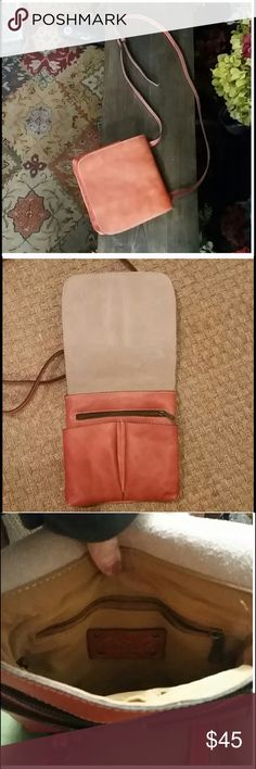 Patricia Nash Leather Crossbody Reposh. Patricia Nash Leather Crossbody pinkish tan purse. Purchased on posh and never used it was never used by formal owner. Patricia Nash Bags Crossbody Bags