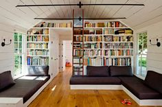 Reading room in a home that only measures 540 square feet located in Portland