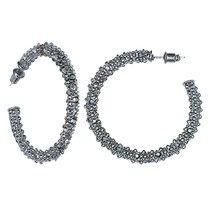 Traci Lynn Fashion Jewelry - Bling It Hoops, Rhinestone Pierced Earrings